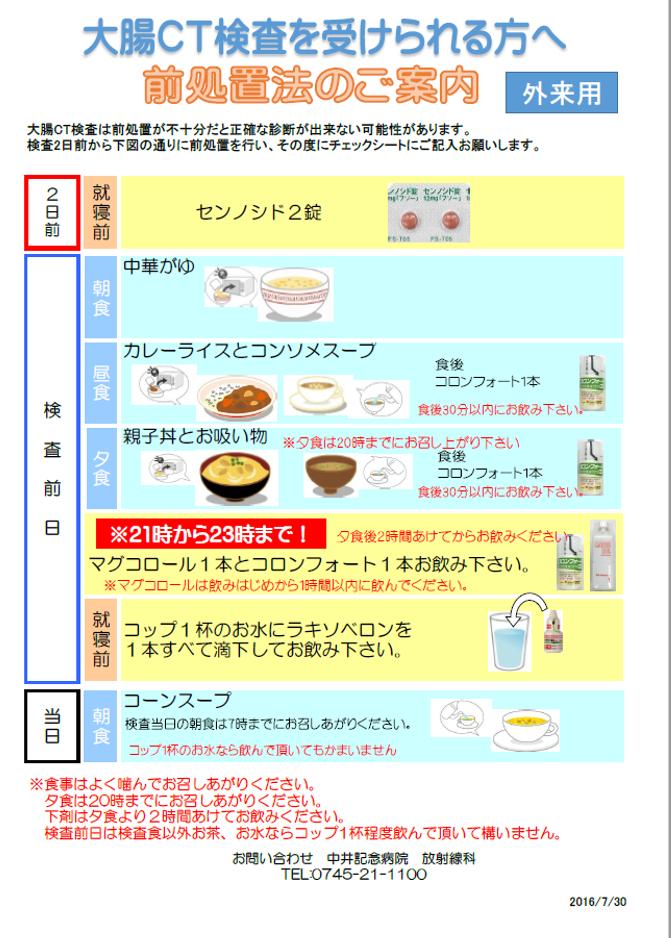 食事 大腸 制限 検査